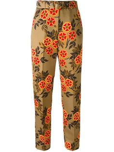 Shop MSGM floral print trousers  in Dante 5 Women from the world's best independent boutiques at farfetch.com. Shop 300 boutiques at one address.