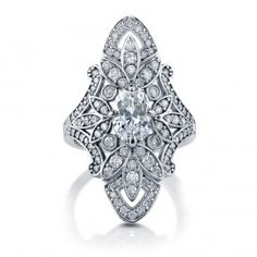 Sterling Silver CZ Art Deco Ring