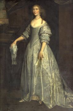 Lady, full-length, wearing a silver silk dress by circle of Sir Anthonis van Dyck (auctioned by Bonhams) From Bonhams