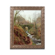 "Trademark Art 'March Morning' by John Grimshaw Framed Painting Print Size: 14"" H x 11"" W x 0.5"" D"