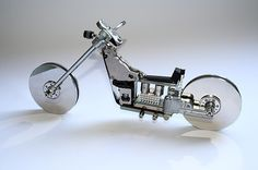 Easy Rider2 Ecotechnoart in electronics diy art  with Sculpture Electronic Art