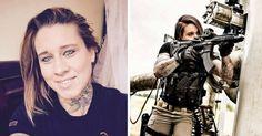 Esta mujer ama las armas y a los animales.