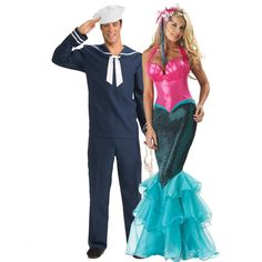 Mermaid and Sailor Couples Costume