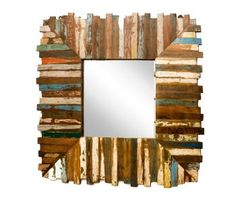 Upcycled Mirror made from Recycled Painted Teakwood