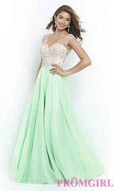 A-Line Floor Length Gown by Blush at PromGirl.com