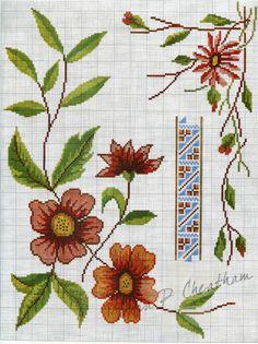 Gallery.ru / Фото #4 - Vintage Spanish - Realce - Dora2012 Cute Cross Stitch, Cross Stitch Borders, Cross Stitch Flowers, Cross Stitch Charts, Cross Stitching, Cross Stitch Embroidery, Hand Embroidery, Cross Stitch Patterns, Vintage Embroidery
