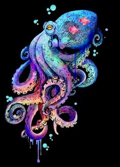 octopus dragon tattoo tattoo tattoo designs tattoo for men tattoo for women tattoo tattoo tattoo tattoo tattoo tattoo tattoo tattoo ideas big dragon tattoo tattoo ideas Octopus Drawing, Octopus Painting, Octopus Tattoo Design, Octopus Tattoos, Octopus Art, Tattoos Mandala, Muster Tattoos, Sea Art, Psychedelic Art