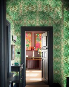 Arch Doorway, Wallpaper Ceiling, Statement Wall, Architecture Details, Fresco, Color Blocking, Colours, Contemporary, Interior Design