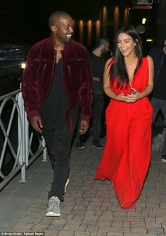 Much fan-fare:Kim arrived with her rapper husband, their child North West and Khloe on Wednesday and were greeted by hundreds of fans