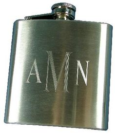 Who doesn't love a monogrammed flask? Great Gifts For Guys, Gifts For Him, Great Graduation Gifts, Marley Lilly, Bridesmaids And Groomsmen, Getting Drunk, Beautiful Drawings, Monogram Gifts, Groomsman Gifts