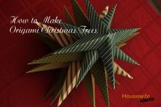 Origami Christmas Trees (A Tutorial)