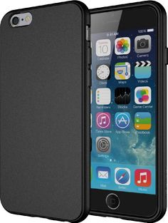Diztronic Full Matte Black Flexible TPU Case for Apple iPhone 6 - Retail Packaging