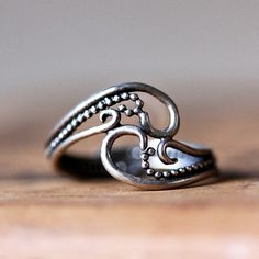 Unique silver henna tattoo ring in recycled sterling silver handmade in nyc by metalicious