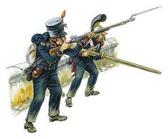 Fuciliere di Marina e zappatore del genio della guardia imperiale francese