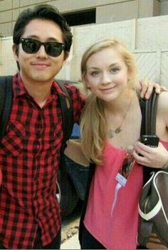 Steven Yeun, Emily Kinney