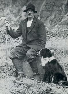 Shepherd John Dagg and his dog Sheila. The Dickin Medal was awarded to the shepherd and his dog following their courage in rescuing the crew of a crashed Flying Fortress bomber.