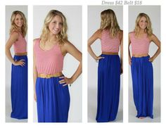 Red, white, and blue maxi dress!!!