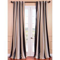 EFF Georgetown Stripe Blackout Curtain Panel 50W X 96L