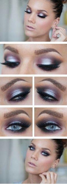 42 idées pour un maquillage des yeux magnifique Le pourpre dramatique pour des yeux bleus !