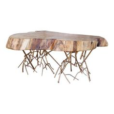 Image of Rustic Spalted Maple Live Edge Coffee Table