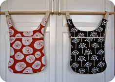 "Lotta Jansdotter fabric: bag+backpack by ""lletres i fils"""