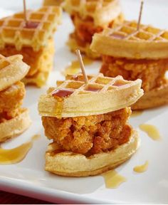 Sweet, savory and easy to make. These Chicken and Waffle Sliders are a perfect combination of classic comfort foods.