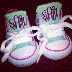 GLITTER MONOGRAM Baby, Toddler, Kids Chuck Taylor Converse on Etsy, $50.00