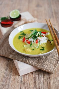 Some Recipe, Soup And Salad, Pesto, Thai Red Curry, Salads, Food And Drink, Appetizers, Lunch, Dining