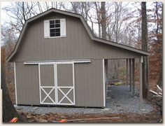 Anyone have pictures of a lean-to on a shed? I currently have a shed with a gambrel roof. I'd like to add a lean-to to it, but don't want it to.