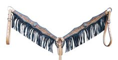 Floral Scallop Breastcollar with Fringe - Frontier Western Shop Ltd.