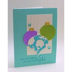 card christmas memorybox ornaments - ornament toppers