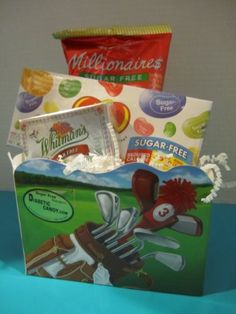 Sugar Free Candy Mini Golf Gift Box - Diabetic Candy and Chocolate