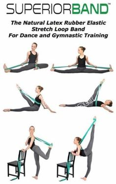 about SUPERIORBAND Ballet Stretch Band for Ballet Dance Gymnastics more US 1775 New in Sporting Goods Fitness Running Yoga Fitness Equipment GearList of equipment of t. Yoga Fitness, Fitness Gear, Workout Fitness, Enjoy Fitness, Workout Abs, Female Fitness, Fitness Diet, Ballet Stretches, Gymnastics Stretches