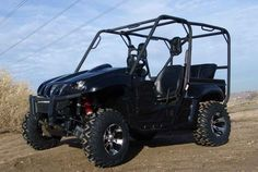 """Used 2007 Yamaha RHINO 660 ATVs For Sale in California. Equipped with adjustable passenger handle and Progressive Suspension 429 Series Heavy Duty front and rear shocks. Currently in stock green bodywork, two seater configuration with stock wheels and tires. Also included; Complete set of """"like new"""" ITP wheels and tires; ITP SS112 Wheels with ITP Terracross Tires (26X9R12 fronts & 26X11R12 rears) Plus Rear roll cage and seat kit to convert to 4 passenger Rhino Plus Complete set of Black Wide…"""