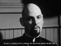 satanism black and white gif satanic sinner Anton LaVey LaVeyan ...