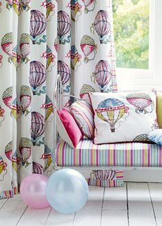 Beautiful Balloons Fabric from Sanderson...maybe too girly for a gender neutral nursery