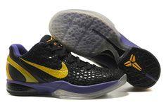 Nike Zoom Kobe Vi Black Purple Yellow