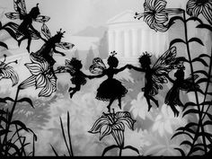 Lotte Reiniger.  Fairy Tales.  Animated short films.  Watch Cinderella in full http://lilywight.com/2013/03/16/lotte-reinigers-fairy-tales-movies-you-might-have-missed/#