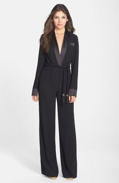 Rachel Zoe 'Hardy' Tuxedo Crepe Jumpsuit