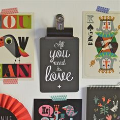 carte postale All you need ardoise Cinqmai - deco-graphic.com