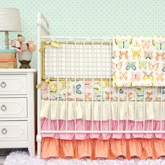 Buttercup Baby Bedding in Bright Pastels