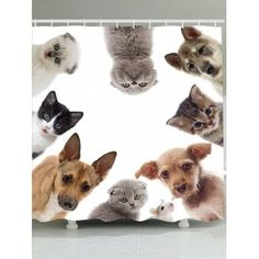 ee6c898dae5 Free shipping 2018 Animal Pattern Waterproof Shower Curtain COLORMIX W INCH  L INCH under  17.43 in