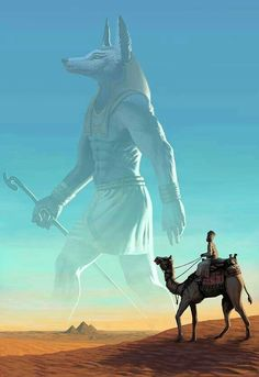 """Visions of the Past"" / Anubis (Rainer Petter Ribeiro / rainerpetterart on… Fantasy Creatures, Mythical Creatures, Fantasy World, Fantasy Art, Egyptian Mythology, Egyptian Goddess, Egypt Art, Gods And Goddesses, Ancient Egypt"