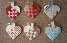 Corazones entrelazados de papel #regalo #manualidad #amor