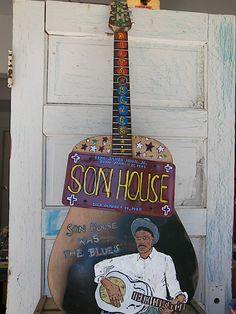 Son House - Dan Dalton Art Blues folk art, guitar art- Delta Blues, Mississippi Blues