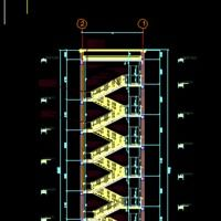 Best Escalator Dwg Autocad Drawing 2D Stairways Projects 400 x 300