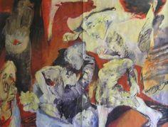 """Saatchi Art Artist Manlio Rondoni; Painting, """"Il cavallo rosso e il sole nero"""" #art"""