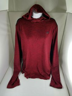 6cb0abf5b Womens RUSSELL ATHLETIC Dri-Power 360 Training Fit Red Black LS Hoodie Large  #RussellAthletic