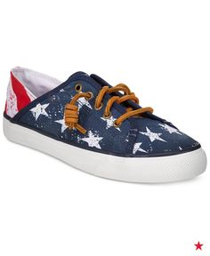 Be the star of your holiday barbecue with Sperry's Seacoast Isle canvas sneakers. Love the fact that they're easy to slip on, too!
