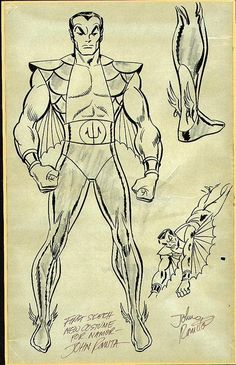 John Romita Sub Mariner Character design. Comic Book Artists, Comic Artist, Comic Books Art, First Superhero, Sub Mariner, Comic Book Collection, Comic Kunst, Shadow Art, Black White Art